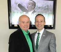 Grant McCasland counts his father, Roger, left, as one of the most important people and influences in his life. McCasland left Arkansas State to take over as North Texas' head men's basketball coach largely to be closer to his father and the other members of his extended family.Courtesy of Grant McCasland