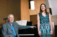 Mark Graham and Alissa Taylor, who teach music courses out of First Christian Church of Denton. The church, where Graham heads up the music ministry, has launched a free concert series.DRC