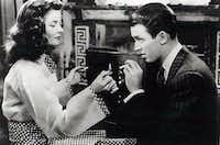 Katharine Hepburn, left, and Jimmy Stewart in 'The Philadelphia Story.'