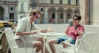 A young man named Elio (Timothy Chalamet) living in Italy in the '80s, meets Oliver (Armie Hammer), an academic who has come to stay at his parents' villa, in <i>Call Me By Your Name</i>.