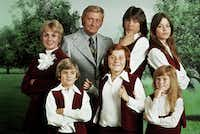 "This 1970 photo released by courtesy of Sony Pictures Television shows, back row, from left, cast members, Shirley Jones, Dave Madden, David Cassidy, Susan Dey, and front row, from left, Brian Forster, Danny Bonaduce and Suzanne Crough of the television series, ""The Partridge Family."" Madden, who played the child-hating agent on the hit 1970s sitcom, died in Florida on Thursday, Jan. 16, 2014, at age 82. (AP Photo/Copyright CPT Holdings Inc, Courtesy Sony Pictures Television)AP"