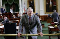 Craig Estes on the floor of the Texas SenateAP