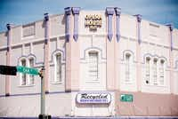 "<p><strong style=""font-size: 1em; background-color: transparent;"">The historic 1901 Wright Opera House at the corner of Locust and Oak Streets became 'the purple building on the Square' in 1998.</strong></p>DRC"
