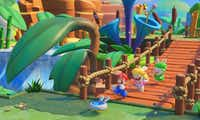 "A scene from ""Mario + Rabbids Kingdom Battle."""