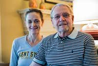 Lloyd Fitzpatrick, 81, is shown with his wife, Elizabeth, on Sunday at their house in Denton. The 81-year-old recently retired from his work as a volunteer with the Denton County Sheriff's Office.DRC