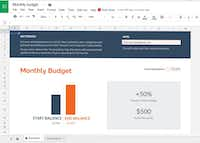 Christmas is behind us, but the bills are coming. Can you tackle debt in 2018? Pat Sherman, vice president of community relations at DATCU, says yes. It just takes impulse control, a pad and a pencil at least once a month. A monthly budget template is available for free on Google Sheets.Screen capture/Google Sheets