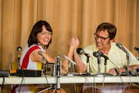 "This image released by Fox Searchlight Pictures shows Emma Stone, left, and Steve Carell in a scene from ""Battle of the Sexes."" On Monday, Dec. 11, 2017, Stone was nominated for a Golden Globe for best actress in a motion picture comedy or musical for her role in the film. The 75th Golden Globe Awards will be held on Sunday, Jan. 7, 2018 on NBC. (Melinda Sue Gordon/Fox Searchlight Pictures via AP)AP"