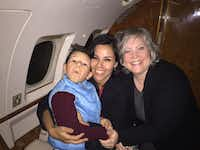 Ricardo Alekzander Lara, his aunt Rosalba Medina, center, and Donna Bloom, director of legal services with Denton County Friends of the Family, flew to Denton in a private jet in February 2016. At the time, authorities had just located the boy, known as Alek, with his father, murder suspect Ricardo Alfonso Lara-Martinez, in Mexico more than two years after he was accused of killing his son's mother.
