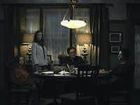Milly Shapiro, Toni Collette, Gabriel Byrne and Alex Wolff in a scene from the A24 film <i>Hereditary. </i>A24
