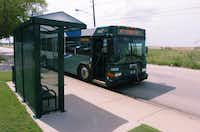 Installed in 2013, this DCTA bus shelter on Scripture Street outside the Denton County MHMR Center serves riders on Route 7.DRC file photo