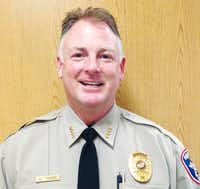 Denton County Sheriff William Travis, who was sworn in Tuesday, has rolled out a new, larger badge and updates to uniforms for the department.Courtesy photo