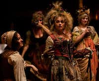 Helena Bonham Carter, center, plays Madame Thenardier in Les Miserables.Universal Pictures