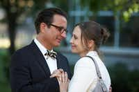 "Andy Garcia, left, and Vera Farmiga are shown in a scene from ""At Middleton."""