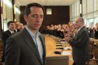 "Marc (Gad Elmaleh), a CEO at a major French financial firm, tries to fend off an American takeover bid in ""Capital."""