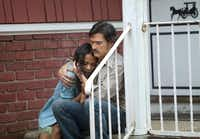 "Frank (Billy Crudup) and Vanessa (Zoe Saldana) have a complicated relationship in ""Blood Ties."""