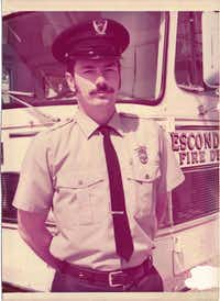Ross Chadwick, Denton's retiring fire chief, was 23 when he started his firefighting career with the Escondido Fire Department in Southern California in 1970.Courtesy photo