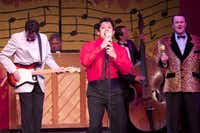 """""""Buddy: The Buddy Holly Story"""" includes, from left, Brian Lambert as Buddy Holly, Jaime Nunez Rodriguez as Ritchie Valens and Bryan Patrick as the Big Bopper.Courtesy photo"""