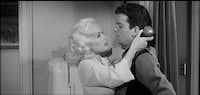 """Mamie Van Doren and Russ Tamblyn vamp it up in the campy """"High School Confidential,"""" a cautionary film that warns against marijuana use.MGM"""
