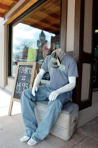 Mannequins greet customers as they enter Barefoot. The Stephenville-based screen-printing company opened its fourth retail location, in a storefront just off the Denton Square that had been vacant for years.Al Key - DRC