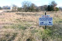 A sign advertises a lot available in Hidden Valley Airpark is pictured on Wednesday in Shady Shores.David Minton/DRC