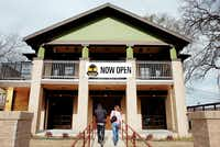 Customers walk into the Treehouse Bar & Grill at 1512 W. Hickory St. on Friday.Al Key - DRC