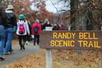 About 30 people ventured out on a New Year's Day hike on the 2.2-mile Randy Bell Scenic Trail at the Isle du Bois Unit of Ray Roberts Lake State Park.Tomas Gonzalez  - DRC