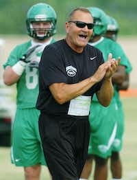 University of North Texas head coach Dan McCarney during spring football practice, Wednesday, March 28, 2012, at the Darrell R. Dickey Practice Facility in Denton, Texas.David Minton