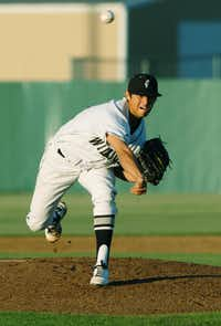 Guyer senior Connor Garcia (14) throws against Keller, Tuesday, April 17, 2012, in Denton, Texas.David Minton`