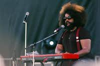 Reggie Watts performs at the Hot Wet Mess on Saturday in Denton.DRC/David Minton