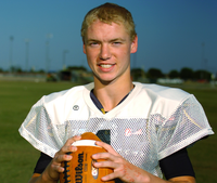 Pilot Point quarterback Travis Garrett, Wednesday, September 19, 2012, in Pilot Point, TX. David Minton/DRCDavid Minton