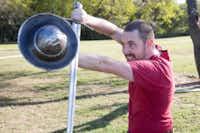Ben Morgan performs a guard of crutch.Jeff Woo  - DRC
