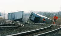 Several cars from a BNSF Railway freight train derailed near Rector Rd  and FM 156 in Sanger, Thursday, December 13, 2012, in Sanger, TX.David Minton - DRC