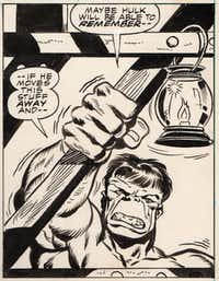 The Incredible Hulk tries to shine a light on the situation in this panel.Picasa