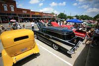 An array of cars are lined up Saturday for Aubrey's fifth annual Classic Car Show.David Minton - DRC
