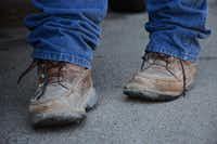 Juan Cadena's many construction jobs make his boots an essential part of his daily routine. When he isn't working, he likes to cook chorizo for family.Caitlyn Jones
