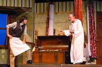 "Denton Community Theatre opens ""Sly Fox"", the comedic adaptation of Ben Jonson's Volpone this weekend with an all-star cast. Sly Fox is a comedic play by Larry Gelbart, based on Ben Jonson's Volpone (The Fox), updating the setting from Renaissance Venice to 19th century San Francisco, and changing the tone from satire to farce, Tuesday, June 4, 2013, at the Campus Theatre in Denton, TX.David Minton - DRC"