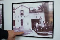 A photo of the old Fire Station No. 3 on Avenue B is on display at the Denton Firefighters Museum, inside the Central Fire Station. Denton firefighters salvaged items from the old substation, including the 1930 dedication plaque, some tin ceiling pieces, the fire pole and a piece of curbing bearing the names of former firefighters.David Minton