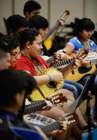 Mariachi campers practice during the University of North Texas' mariachi camp in 2014.Al Key
