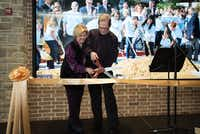 "President and founder Rodney Haire and his wife, Judy, cut the ceremonial ribbon at Saturday at Liberty Christian School open house to unveil the first of two phases in the school's ""Great Expectations"" campaign.Photos by Ranjani Groth"