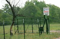 A sign indicates the emergency muster area for the Orica USA Chico site where Ammonium Nitrate and Gianite are stored. The Orica Chico Site is located far off a country road north of Chico in a sparsely populated rural area, Thursday, May 2, 2013, in Chico, TX.David Minton - DRC