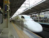 An N700 series Shinkansen, like this one that runs between Tokyo and Osaka, could one day make an appearance in Dallas, transporting riders in 90 minutes to Houston.Clinton Crockett Peters