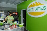 An employee of Viet Bites prepares chopsticks Thursday May 23, 2013, in Denton.Al Key - DRC