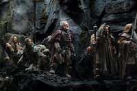 From left, Fili (Dean O'Gorman), Kili (Aidan Turner), Dori (Mark Hadlow), Nori (Jed Brophy) and Bifur (William Kircher) gear up for adventure in The Hobbit: An Unexpected Journey.Warner Bros.