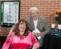 Teri Rheault, left, and Dr. Bettye Myers were among the hundreds of guests at the event.