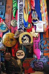 Justin resident Rhonda Foulds joined about 20,000 runners who participated in the Boston Marathon this year. Though she did not cross the finish line because of a bombing attack, she still received a medal, which currently hangs in her home.John D. Harden - DRC