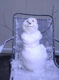 Donna Corbe submitted this southern italian snowman with a chili pepper nose and mini pepperoni eyes.DRC Courtesy Photo