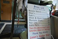 Leonard Logan has had the same prices since 1991. He said owning and operating his own shop was never about making money. He only made enough money to break even.John D. Harden - DRC