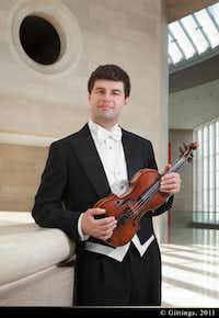 Violinist Nathan Olson will be a featured soloist in the Dallas Symphony Orchestra's April 7 concert at the University of North Texas.Courtesy photo