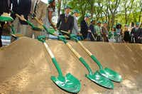 Ground is officially broken for the new student union at the University of North Texas on Friday in Denton.Al Key