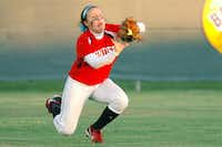 Ponder senior Taylar Tipton makes a diving catch against Pilot Point in center field Friday in Denton.David Minton - DRC